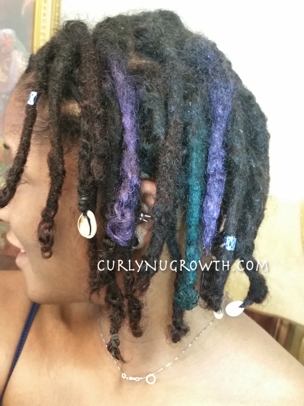 Hair Chalk On Black Hair Curlynugrowth