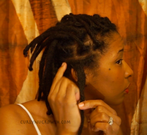 CurlyNuGrowth Combined Locs on Right Side
