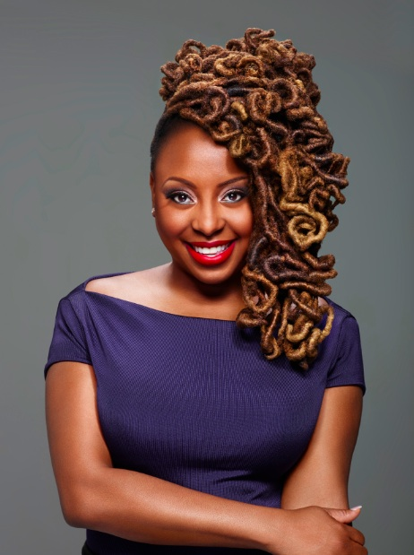 Ledisi with a Locs Updo