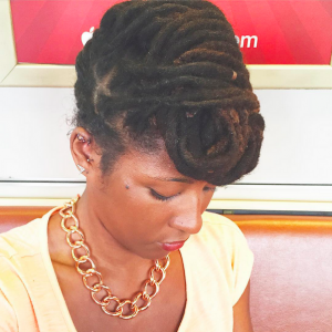 Locs Pinup Hairstyle - CURLYNUGROWTH.com