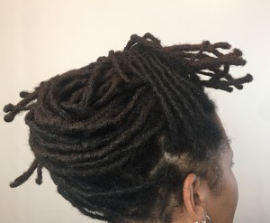 Loc Extensions Updo - CURLYNUGROWTH.com