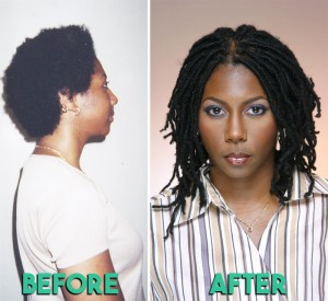 Before & After Loc Reattachment - CURLYNUGROWTH.com