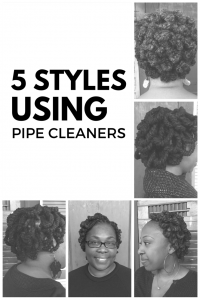 5 LOC STYLES USING PIPE CLEANERS - CURLYNUGROWTH.COM
