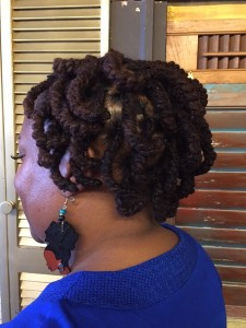 Pipe Cleaners Set on Locs in Pixie Cut - Curlynugrowth.com