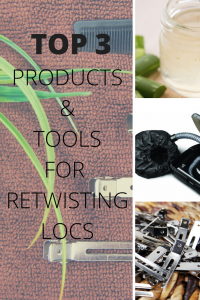 PRODUCTS AND TOOLS FOR RETWISTING LOCS