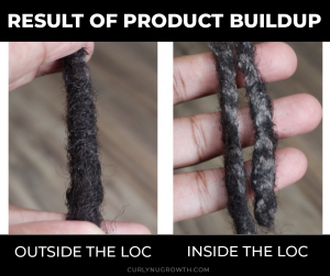 Product Buildup In Locs