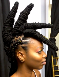 Spiky Updo With Locs on Keisha Charmaine