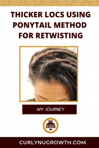 Thicker Locs Using Ponytail Method For Retwisting