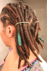Ponytail Method for Retwisting Locs