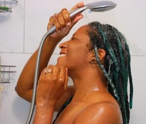 Rinsing Shampoo Out of Locs